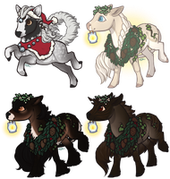 Tiny Holiday Fawnling Batch 1 by ofcowardiceandkings
