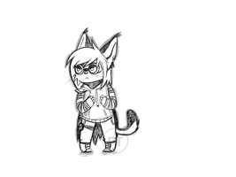 [Sketch] Angry kitten by DashTheThief