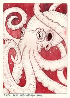 Octopus etching by janimutikainen
