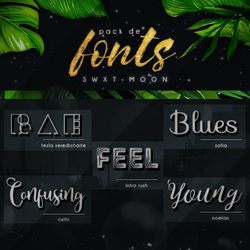 L-O-V-E // FONT PACK by swxt-moon