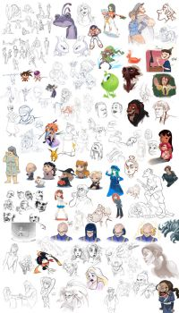 Sketch Compilation Halftime '13 aka Sketchdump by lord-phillock