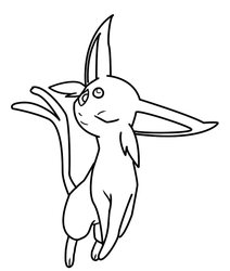 Espeon Coloring Page By Bellatrixie White On DeviantArt