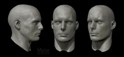 3D Scan of Christopher Reeve head. by Hal8998