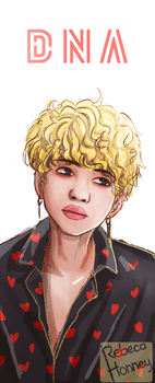 Jimin - DNA + SPEED PAITING by Rebeca-Honney