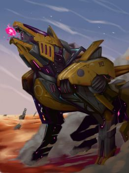 Mech Wolf Chassi by dominic-barrios