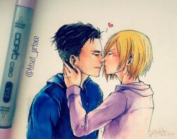 Yuri!!! on Ice , Otabek Altin x Yuri Plisetsky by deicus4ever