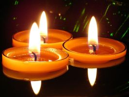 Floating Candles 1 by FantasyStock