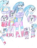Sonica and Amy Doodles by ArtistOtaku91