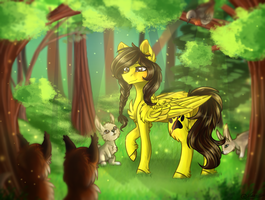 Animals in the woods by Jazzerix