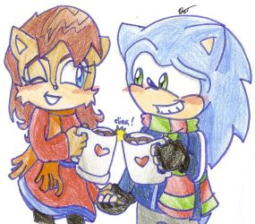 Christmas 2010: Sonic x Sally by Shapoodle4u