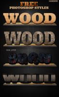 (Free) Photoshop Wood Styles by aanderr