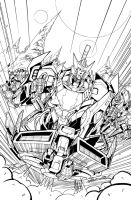 TF MTMTE 04 cover lineart by markerguru