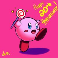 Kirby 20th Anniversary by AzureBladeXIII