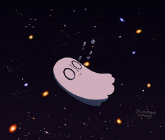 Napstablook spaced out by Stereotyped-Orange