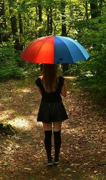 rainbow umbrella by azia600