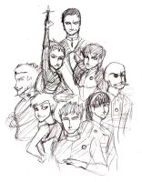 Kanto Gym Leaders - Sketch by SailorPretty