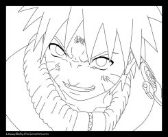 Im Gonna Be Hokage Lineart by l3xxybaby
