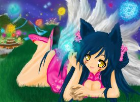 Ahri League of Legends by xXMikuruXx