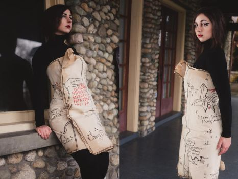 The Hobbit Map Dress by Weatherstone
