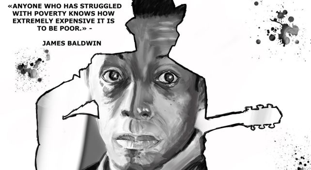 James Baldwin quote by RedGeOrb