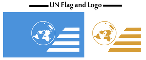 UN Flag and Logo by KingWillhamII