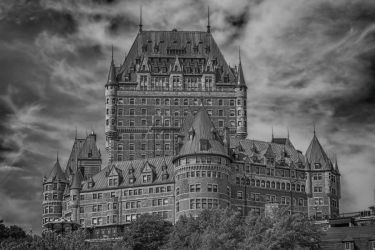 Black and White Chateau Frontenac by jjcpix