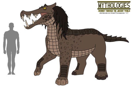 Mythologies - Ammit the Devourer 2017 by HewyToonmore