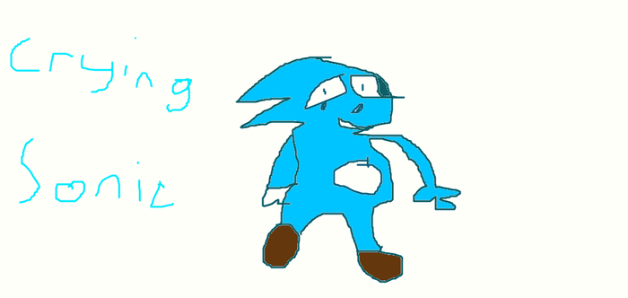 Crying Sonic by CheesyChubb