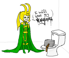 loki - damn you thor by dropped-bear