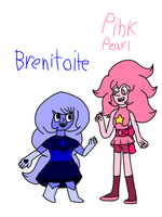 Benitoite meet Pink Pearl  by SfCabanas15