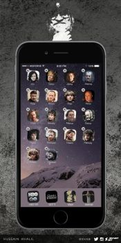 Game of Thrones characters and iPhone 6 apps by 8xhx8