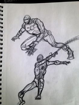 Spidey and Ironman by KidDarknessAnimation