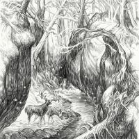 Hobbit Tales: Enchanted Stream by Merlkir