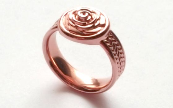 Rose Signet Ring by JeremyMallin