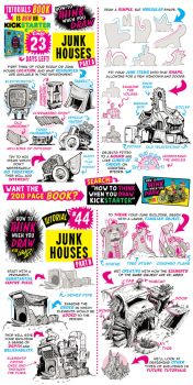 How to draw JUNK HOUSES - Kickstarter is LIVE! by STUDIOBLINKTWICE