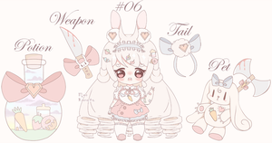 Bottled Doll - Adopt Yandere Bunny (CLOSED) by MoeKonata