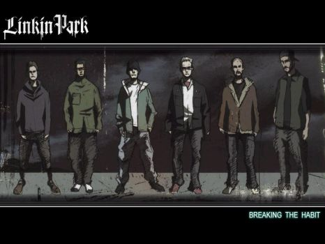 Linkin Park in Anime form by Fazzle666