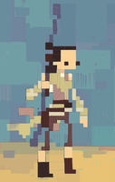 Rey-a-Day 98 fake pixels by michaelfirman