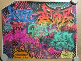colourful graffiti montage by Samson50
