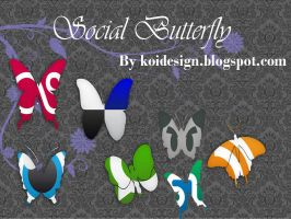 butterfly Social Bookmark icon by koidesign