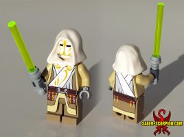 Jedi Temple Guard LEGO Minifig by Saber-Scorpion