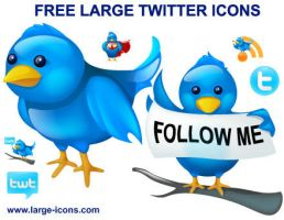 Free Large Twitter Icons by Ikonod
