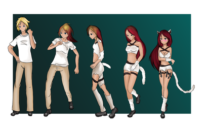 Commission - Kitty Cat Katarina - tglover21 by Luxianne