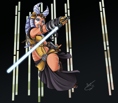 Togruta Jedi by Jackwrench