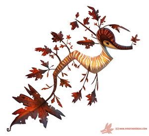 Daily Paint #1024. Autumn Sea-Dragon by Cryptid-Creations