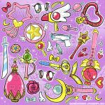 Magical Girl Sticker Sheet by zombielily