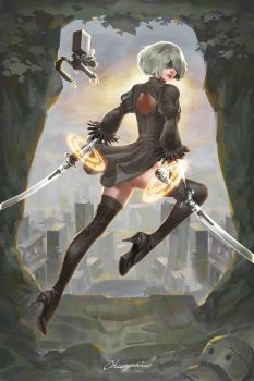 Nier Automata Illustration by cyl1981
