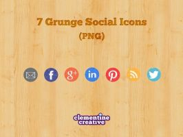 Free Grunge Social Media Icons by ClementineCreative