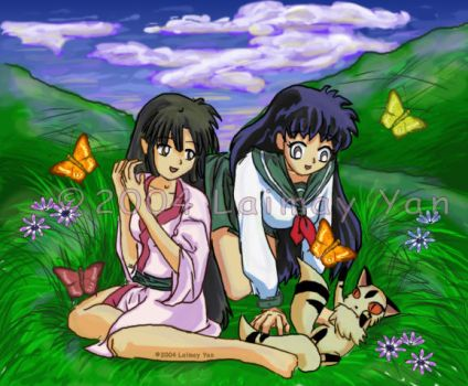 Sango and Kagome from InuYasha by laimeh