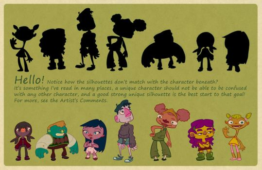 Silhouettes Character Design by WizardWannabe